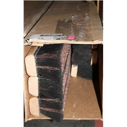 BOX OF 6 PUSH BROOM HEADS - ASSORTED SIZES