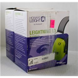 LOT OF 2 HOWARD LEIGHT LEIGHTNING L3 HI- VIS