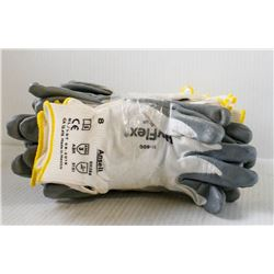 12PK ANSELL HYFLEX 11-800 WORK GLOVES