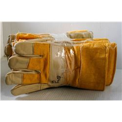 6 PAIRS OF OIL PATCH LEATHER PALM/ BOA LINING