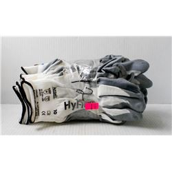 12 PR OF ANSELL 11-800 DIPPED PALM WORK GLOVES;