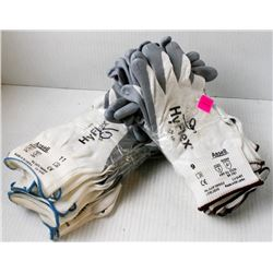 12 PR OF ANSELL ASSORTED DIPPED PALM WORK GLOVES;