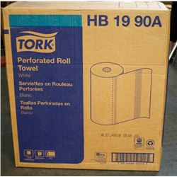 CASE OF 30 ROLLS OF TORK PERFORATED WHITE PAPER