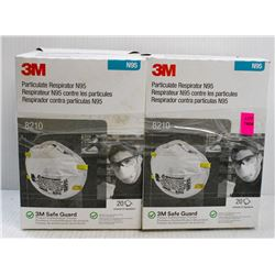 2 BOXES OF 3M 20PC N95 PARTICULATE REPIRATOR