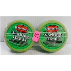 LOT OF 2 O'KEEFFE'S WORKING HANDS HAND CREAM