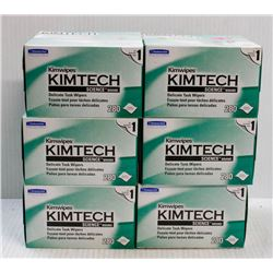 """BUNDLE OF 6- 280PC """"KIMWIPES"""" DELICATE TASK WIPERS"""