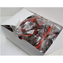 12 PAIR ZENITH RED FRAME CLEAR LENS SAFETY GLASSES