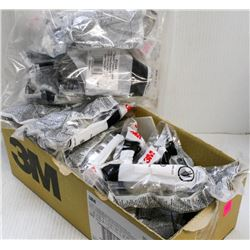 BOX OF ASSORTED 3M SAFETY GLASSES, SMOKE & CLEAR