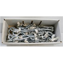 BOX OF ASSORTED SIZED EYE BOLTS