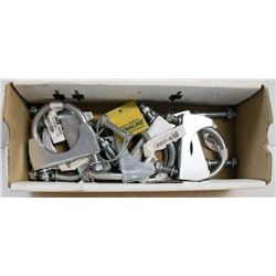BOX OF ASSORTED PIPE CLAMPS