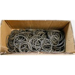 BOX OF ASSORTED SIZED RUBBER ORINGS