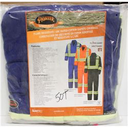 PAIR OF NEW PIONEER FLAME RESISTANT COVERALLS,