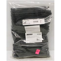 BAG OF 1000 AURORA 6 INCH CABLE TIES, BLACK