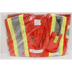NEW DURATECH RED SAFETY VEST SIZE SMALL