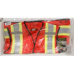 NEW DURATECH RED SAFETY VEST SIZE X-LARGE