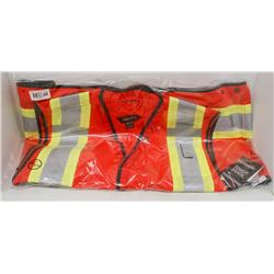 NEW DURATECH RED SAFETY VEST SIZE 2XL