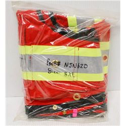 NEW DURATECH RED SAFETY VEST SIZE 3XL