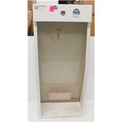 NEW GLASS FRONT WALL MOUNT FIRE EXTINGUISHER CASE