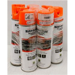 7 CANS OF RUSTOLEUM INVERTED MARKING PAINT