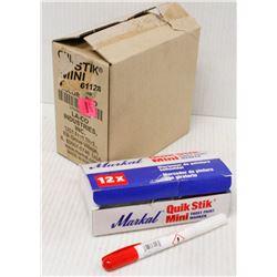 CASE OF 48 QUIK STIK MINI PAINT MARKERS - RED