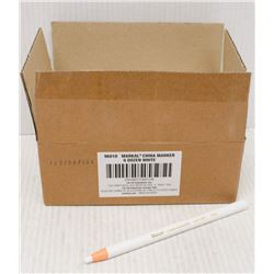 CASE OF 72 MARKAL CHINA MARKERS - WHITE