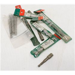 BAG OF ASSORTED NEW METABO DRILL BITS