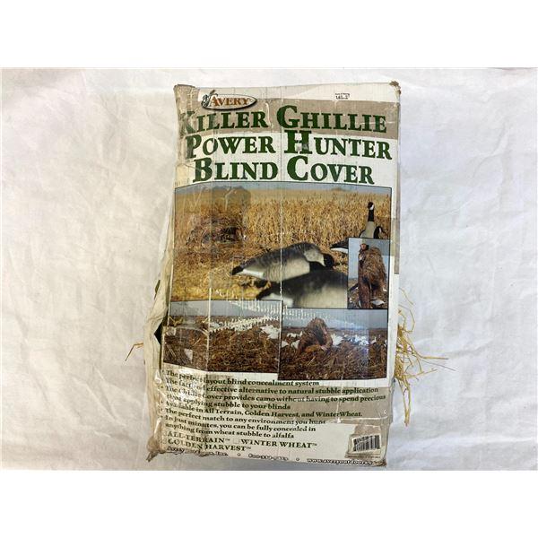 Golden Harvest: Killer Ghillie Power Hunter Blind Cover