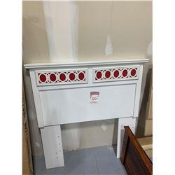 White Twin size laquer headboard