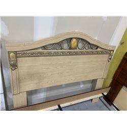 Double opal oak headboard