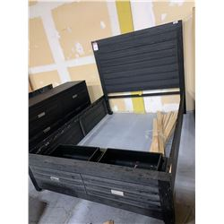 New in Box Queen Captain Bed with headboard, footboard and rails