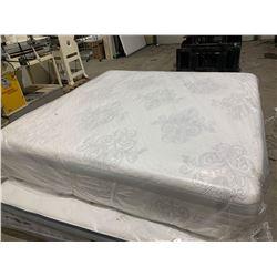 NEW Floor Model 16 inch thick Plush memory foam King Size Mattress ( slight dirt scuff on side)