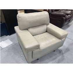 Italian Style Ivorysoft Leather Lounge Chair