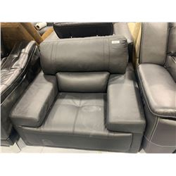 Black Leather Bonded Leather Sofa chair