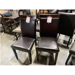 Leather dining chair sold so much each x 2 must take both