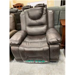 Milano Leather Brown Reclining Sofa Chair