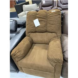 Upholstered Microfiber Tan Reclining chair