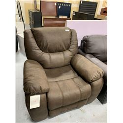 Brown Split Style Buffed Leather Recliner