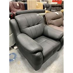 Black Leather Over Stuffed Sofa Lounge Chair
