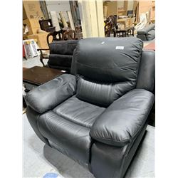 Black Leather Over Stuffed Recliner