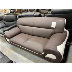 Tassimo Two Tone Split Leather sofa