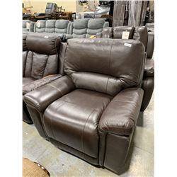 Brown Bonded Leather Recliner Chair ( small scuff on arm)