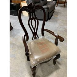 Wood  Upholstered Captains dining chair