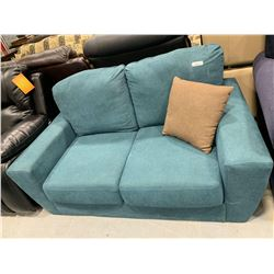 Bauhaus Design Aqua upholstered two seat loveseat