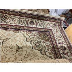 Area Rug Beige  Red 5x8