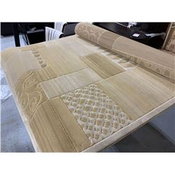 Sculpted Design Area Rug, beige 5x8