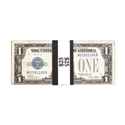 Lot of (25) 1928/A/B $1 Funnyback Silver Certificate Notes