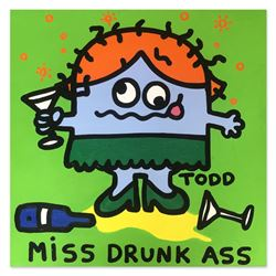 "Todd Goldman ""Miss Drunk Ass"" Original Acrylic On Canvas"