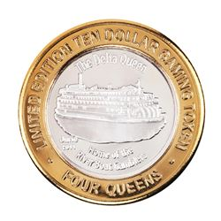 .999 Fine Silver Four Queens Casino Las Vegas, NV $10 Limited Edition Gaming Token