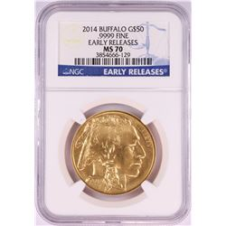 2014 $50 American Gold Buffalo Coin NGC MS70 Early Releases