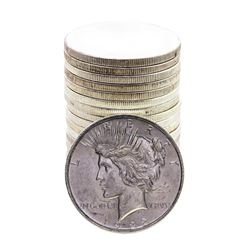 Roll of (20) Brilliant Uncirculated 1922-1924 $1 Peace Silver Dollar Coins